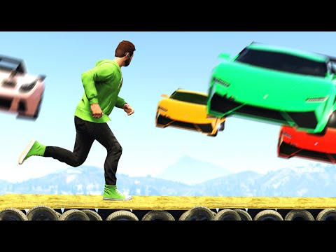 CARS Vs. RUNNERS EXTREME! (GTA 5 Funny Moments)