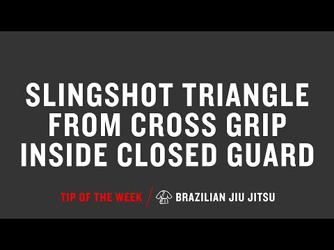 Slingshot Triangle From Cross Grip Inside Closed Guard