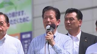 公明党18/08/15終戦記念日街頭演説会