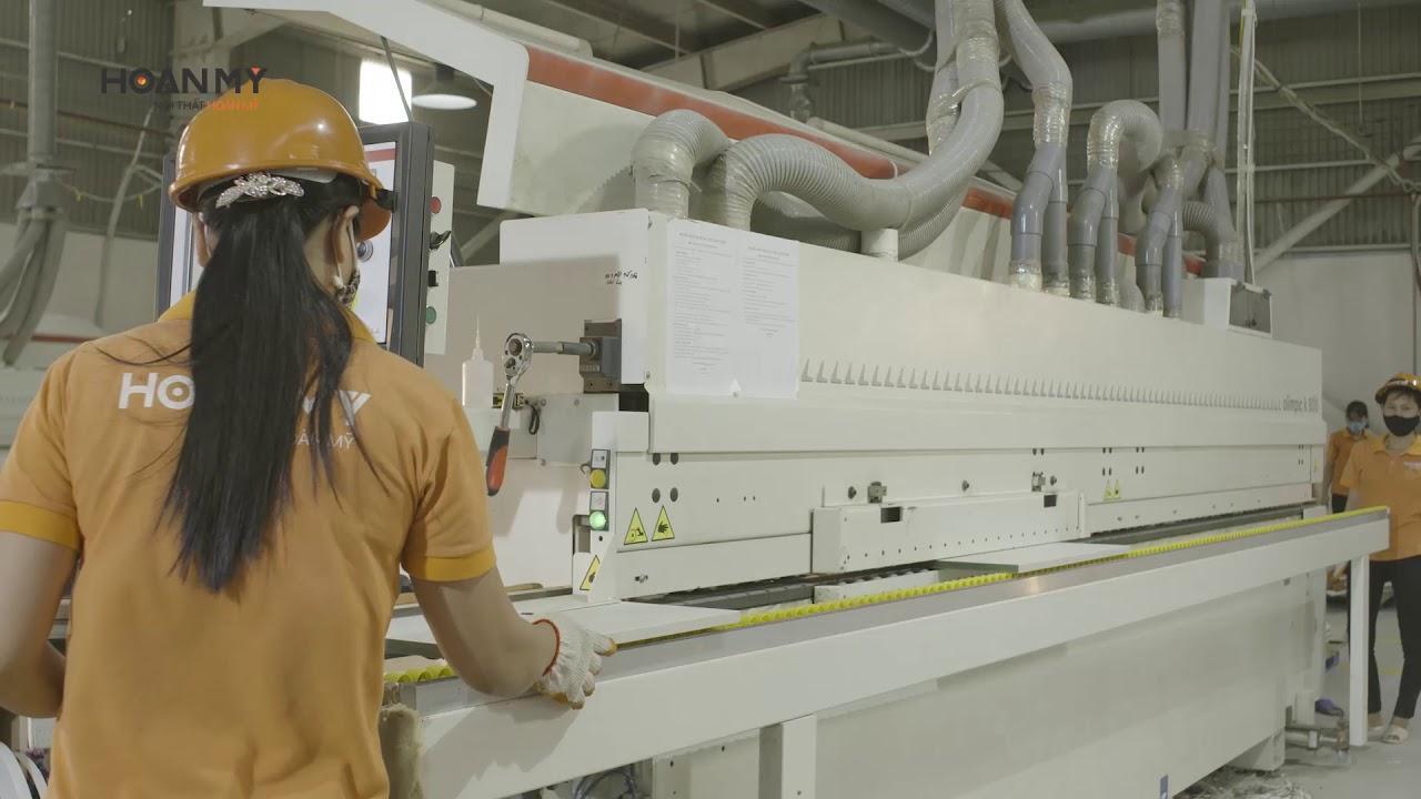 Nội Thất Hoàn Mỹ | Máy dán cạnh Olympic sử dụng đầu keo PUR