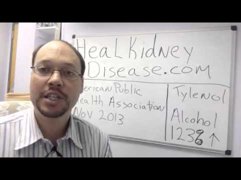 Video Tylenol and Alcohol Damage The Kidneys | Avoid For Kidney Disease