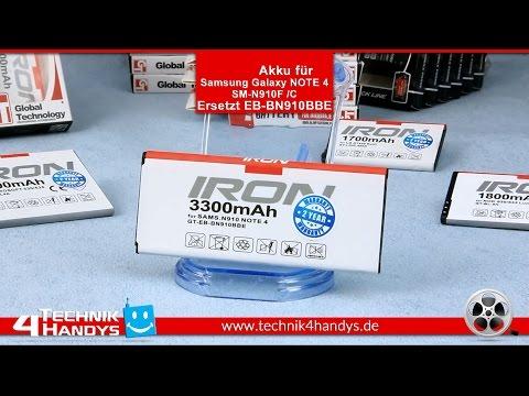 Akku IRON MAX von Global Technology für Samsung Galaxy NOTE 4 SM-N910F