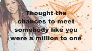 Miley Cyrus - One in a Million (lyrics)
