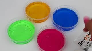 süper şeffaf 4 renk slime yapmayı deniyorum!  banggood hediye slime seti! slime bidünya oyuncak