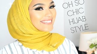 TRENDY CHIC HIJAB STYLE | Wedding/work/special Occasions
