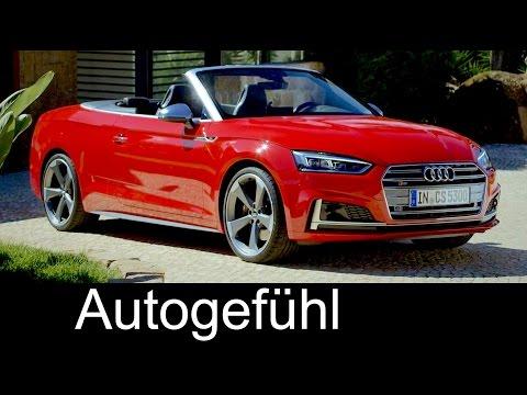 Audi S5 Cabriolet vs A5 Convertible Exterior/Interior preview all-new generation neu 2017