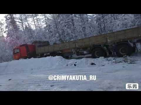 В Якутии КамАЗ столкнулся с иномаркой