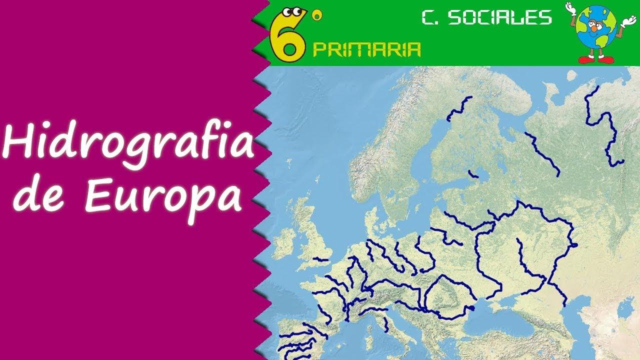 Hidrografia de Europa. Sociales, 6º Primaria