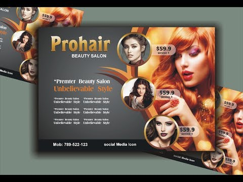 Salon Flyer Design Using CorelDraw X6 - X7 - X8 Tutorial By Ahsan Sabri Mp3