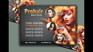 Salon Flyer Design Using CorelDraw X6 - X7 - X8 Tutorial by Ahsan Sabri