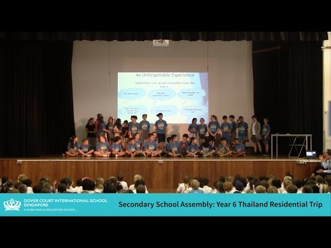 Upper Primary Assembly - Year 6 Thailand Residential Trip