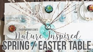 A Nature Inspired Spring Or Easter Table Setting Idea