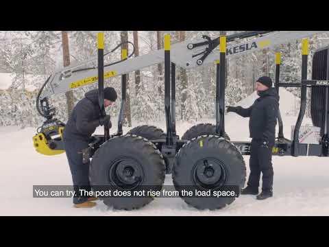 KESLA 104 trailer and 204T loader - presentation