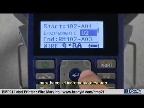 Fibercom. Impresora BMP21. Brady - Marcadores para cables
