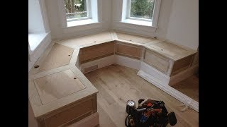 Woodworking : Kitchen Banquette Bench W/ Storage