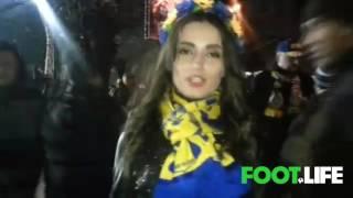 Ростов - МЮ. Прекрасные ростовские девушки-болельщицы поддерживают команду