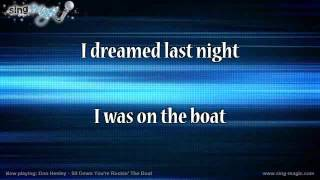 Don Henley   Sit Down You're Rockin' The Boat