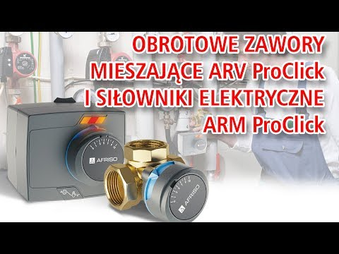Animacja produktowa - Nowe obrotowe zawory mieszające ARV ProClick i siłowniki elektryczne ARM ProClick