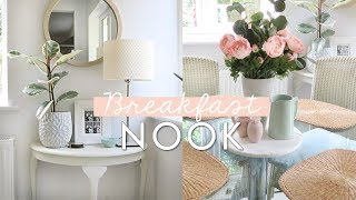 Breakfast Nook And Laundry Room Transformation | Home Makeover Ideas On A Budget