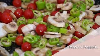 Contorno sfizioso peperoni, funghi e pomodorini