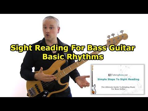 How To Read Music On Bass Guitar - Basic Rhythms