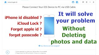 unlock disabled iPhone WITHOUT DATA LOSS, unlock apple id and passcode - iMyfone LockWiper