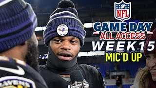 "NFL Week 15 Mic'd Up, ""Did I look like Lamar with that juke?!?"" 