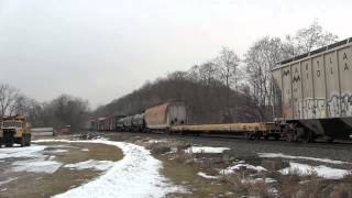 preview picture of video '[HD] CSX Train Q384 at Fonda, NY'