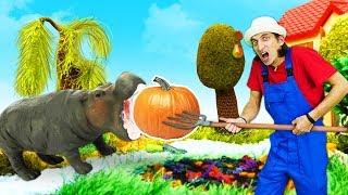 Видео про игрушки. Время быть героем на ферме! Супер Джетт спасает животных!