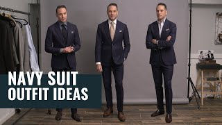 5 Navy Suit Outfit Ideas For Spring | Navy Blue Suit Lookbook | Outfit Inspiration