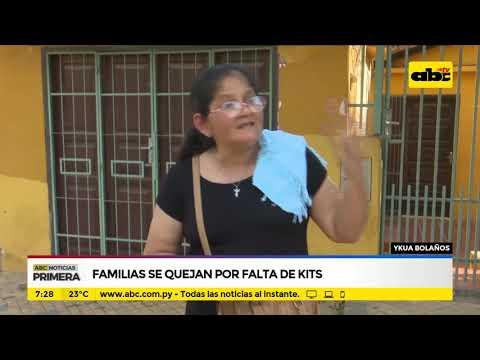 Familias se quejan por falta de kits