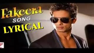 Fakeera Lyrics | Badmaash Company | Shahid   - YouTube