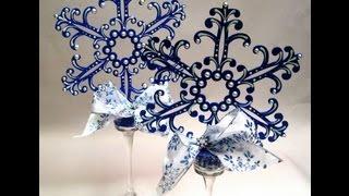 Snowflake Centerpiece ~ Featuring Miriam Joy