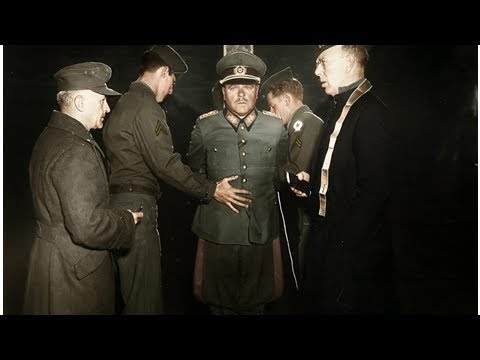 Смотреть онлайн видео Nazi General Anton Dostler is tied to a stake before his execution by a ...