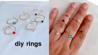How To Make Finger Rings/making Adjustable Wire  Rings/simple And Cute Ring Making/diy Ring