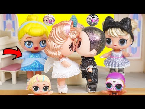 LOL Surprise Dolls BFFs New Doll Get Married at Princess Wedding | Toy Egg Videos