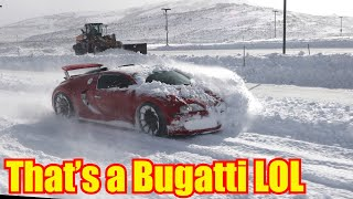 Bugatti Veyron Snow Plow meets Utah Snow Typhoon