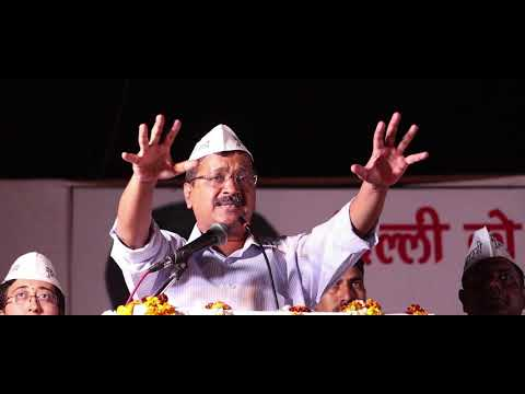Delhi CM Arvind Kejriwal at New Ashok Nagar campaigning for Atishi from East Delhi Lok Sabha