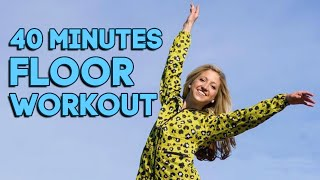 40 Minute Intermediate Floor Barre Workout. Total Body Strength and Length by Caroline Jordan