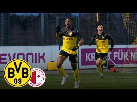 Moukoko & Reyna shoot BVB U19 into next round!   BVB U19 - Slavia U19   Youth League   Highlights
