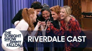 Download Youtube: The Cast of Riverdale and Jimmy Kick Off the Riverdale Milkshake Challenge
