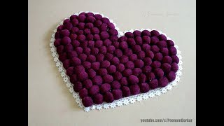 Gambar cover DIY - Door Mat from old clothes | Heart shaped table mat / floor mat | Step by step tutorial