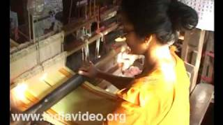 Rich brocade - handloom weaving in Azhikode