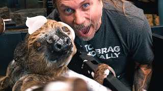 I GAVE MY SLOTH A BATH!!! | BRIAN BARCZYK by Brian Barczyk
