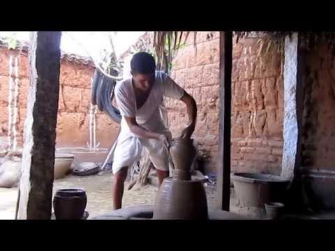 Clay Pot Making in India - Traditional method