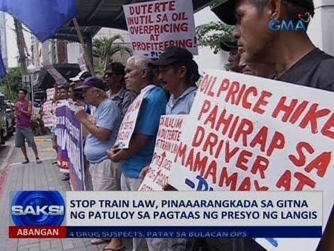 Saksi: Stop TRAIN Law, isinusulong sa gitna ng patuloy na oil price hike