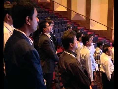 Print Summit 2012 : Lighting of Samay & National Anthem At BMPA Print Summit 2012