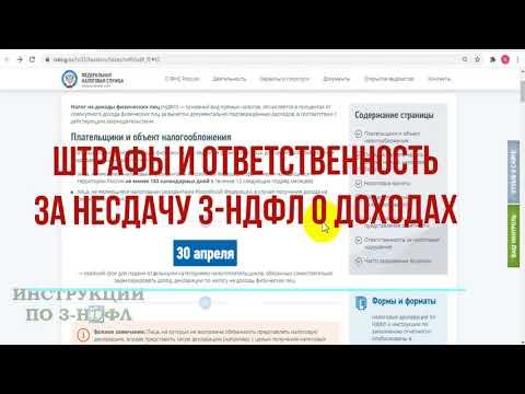 Штрафы и ответственность за несдачу декларации 3-НДФЛ о доходах и неуплату налогов физическим лицом