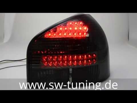 LED Rückleuchten Audi A3 8L smoke SW-Tuning