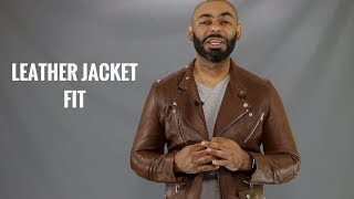 How A Mens Leather Jacket Should Fit/How To Buy A Mens Leather Jacket